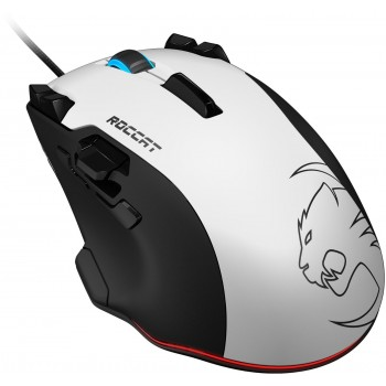 Roccat Tyon All Action Multi-Button Gaming Souris (Capteur Laser 8200 DPI, 14 Touches, Analog Thumb Paddle) Blanc