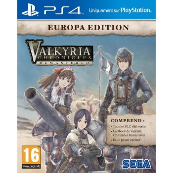 Valkyria Chronicles Remastered - édition europa - PS4