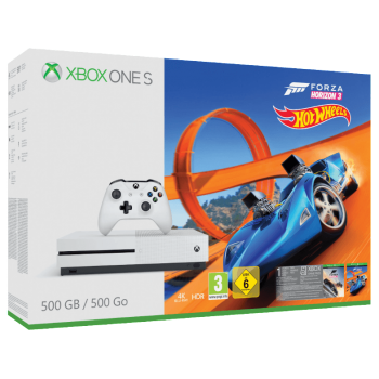 Xbox One S 500 GB + Forza Horizon 3 + Hot Wheels