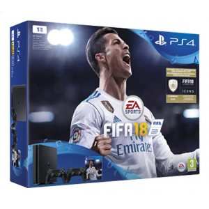 PS4 Slim 1 To + FIFA 18 + 2ème manette