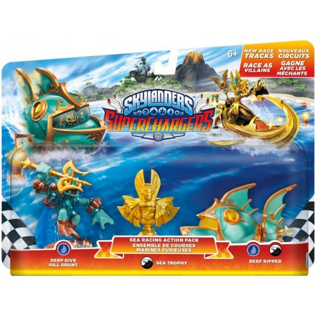 Skylanders SuperChargers - Racing Pack 1 : Deep Dive Gill Grunt + Reef Ripper + Villain Sea Trophy