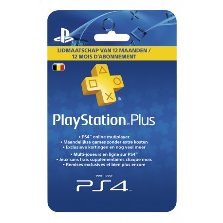 Playstation PLUS Card - 365 Day's / BE