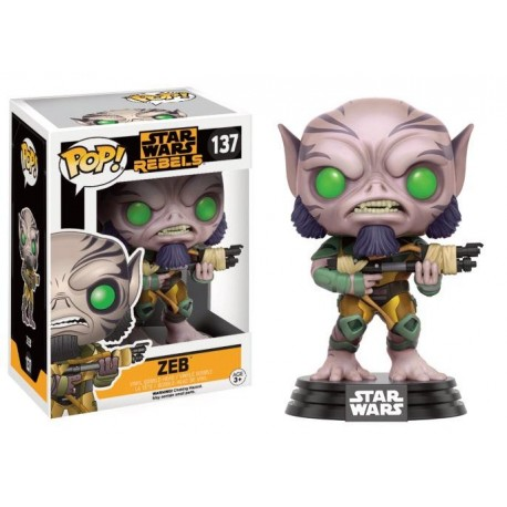 STAR WARS REBELS - Funko POP N° 137 - Zeb