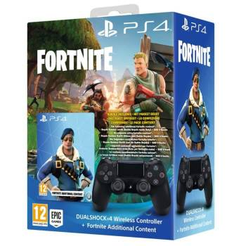 Manette PS4 DualShock 4 V2 + Fortnite Voucher (500 V-bucks + Costume)